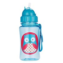 Skip Hop Zoo Straw Bottle Owl Blue