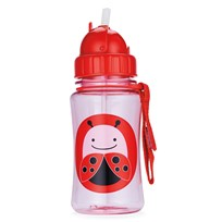Skip Hop Zoo Straw Bottle Ladybug Red