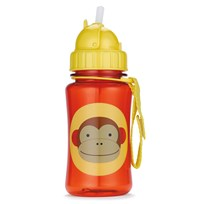 Skip Hop Zoo Straw Bottle Monkey Red