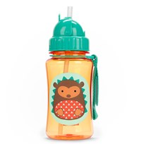 Skip Hop Zoo Straw Bottle Hedgehog Multi