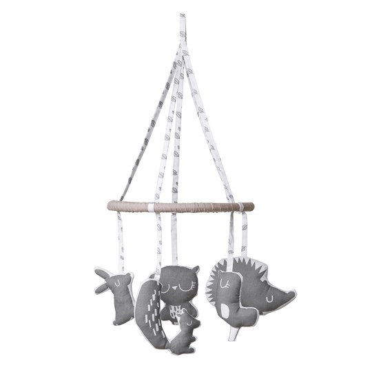 Vinter & Bloom Forest Friends Mobil Grey Leaf Grey leaf