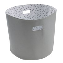 Vinter & Bloom Forest Friends Storage Basket Grey Leaf Grey leaf