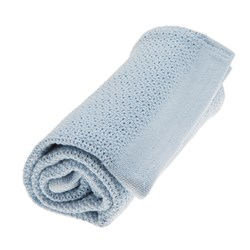 Vinter & Bloom Soft Grid Blanket True Blue