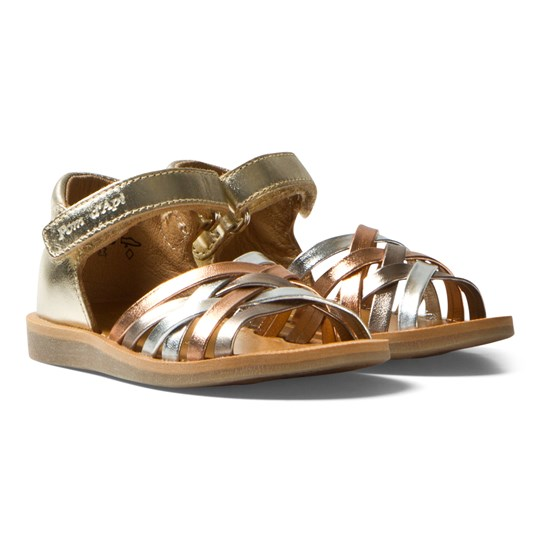 Pom Dapi Multi Pastel Poppy Lux Sandals MULTI METAL
