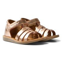 Pom Dapi Copper Metallic Poppy Strap Sandals CUIVRE