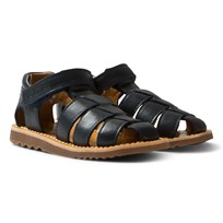 Pom Dapi Blue Yapo Buckled Softy Sandals Marine
