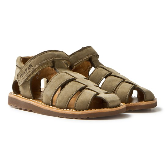 Pom Dapi Army Sam Ambra Nubuck Sandals Army