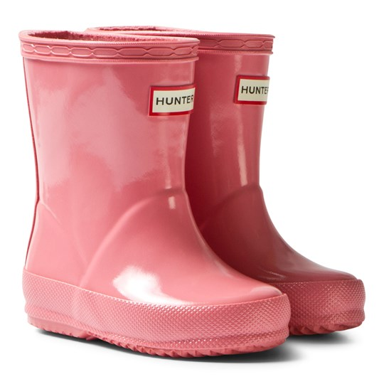 Hunter Panther Pink Kids First Gloss Boots PNP