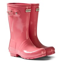 Hunter Panther Pink Original Kids Gloss Boots PNP