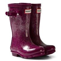 Hunter Bright Violet Original Kids Glitter Boots BVI