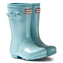 Hunter Pale Mint Original Kids Glitter Boots PMN