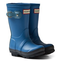 Hunter Blue Original Kids Contrast Boots