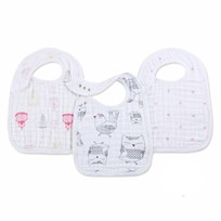 Aden + Anais 3 Pack of Classic Lovebird Snap Bibs White