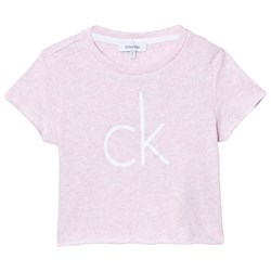 Calvin Klein Pink Branded Cropped Tee
