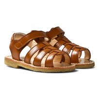 Angulus Tan Open Toe Sandals sauvage 2415
