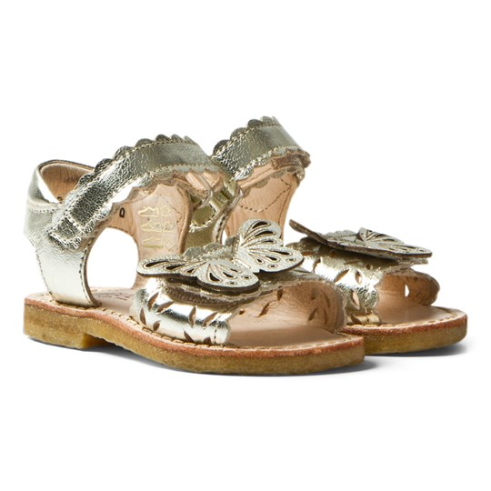 Angulus Gold Butterfly Open Toe Sandals morgan 1325