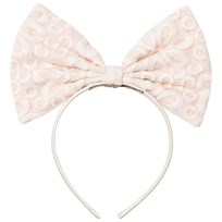 Hucklebones Pink Lace Print Giant Bow Headband BATTENBERG