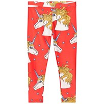 Mini Rodini Unicorn Star Fancy Leggings Red Red