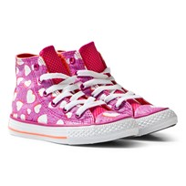 Converse Chuck Taylor All Star Heart Print Magenta Glow and White Magenta Glow/Wild Mango/White