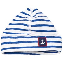 Petit Bateau Baby Printed Hat White And Blue ECUME/DELFT