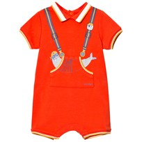 Little Marc Jacobs Orange Walrus Print Romper 41C