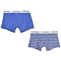 Calvin Klein 2 Pack of Blue Stripe Trunks 064