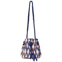 Soft Gallery Bucket Bag Pale Blush/Ikat Blue Pale Blush, AOP Ikat Blue