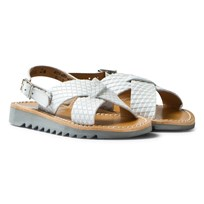 Pom Dapi Ripple Sandals Cross Buckle Blanc Blanc