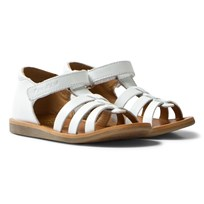 Pom Dapi Poppy Strap Sandals White Blanc