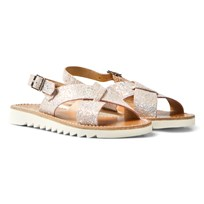 Pom Dapi Ripple Cross Buckle Sandals Tea Rose Tea Rose