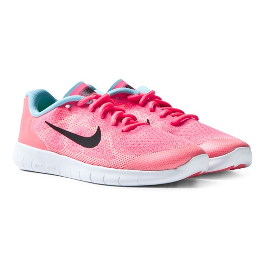 the latest cc0c4 dedb1 NIKE Pink Free Run 2017 Junior Trainers RACER PINK BLACK-LAVA GLOW-PURE