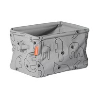 Done by Deer Double Sided Soft Storage Grey Musta