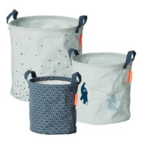 Done by Deer 3 Piece Soft Storage Baskets Blue Blue