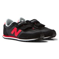 New Balance 410 Hook and Loop Sneakers Black/Red Black/red