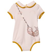 Little Marc Jacobs Cat Print Baby Body Rosa 45B