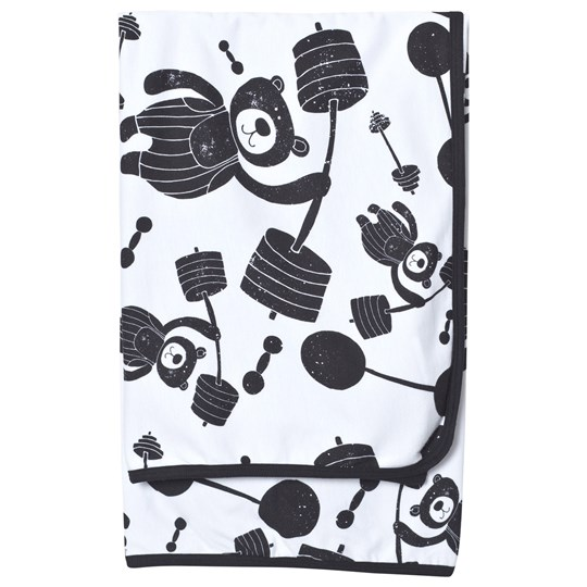 Koolabah Strong Bear Blanket White/Black White/Black