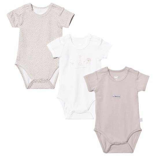 Hust&Claire Baby Body 3-Pack Sand Sand