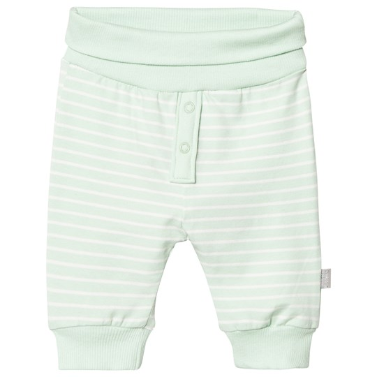 Hust&Claire Striped Jersey Trousers Milk Green Milk green