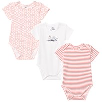 Hust&Claire 3-Pack Baby Body Coral Pink Coral Pink
