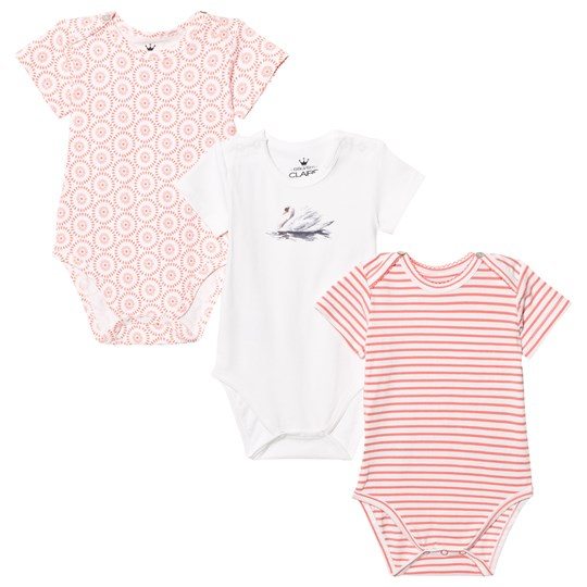 Hust&Claire Baby Body 3-Pack Coral Pink Coral Pink