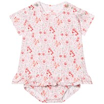 Hust&Claire Floral Baby Body Dress White White
