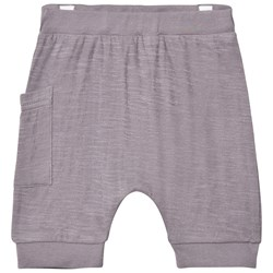 Hust&Claire Jersey Shorts With Side Pocket Raw Grey