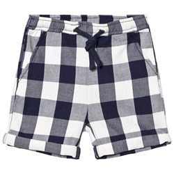 Hust&Claire Plaid Shorts Night Blue