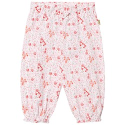 Hust&Claire Floral Jersey Trousers White