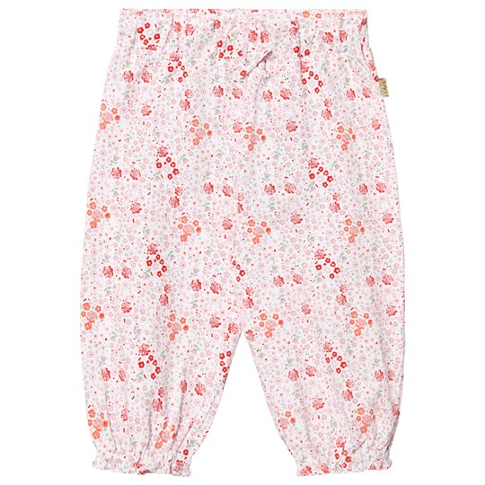 Hust&Claire Floral Jersey Trousers White White
