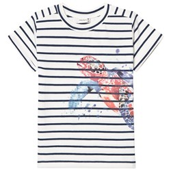 Hust&Claire T-Shirt with Turtle Blue Moon