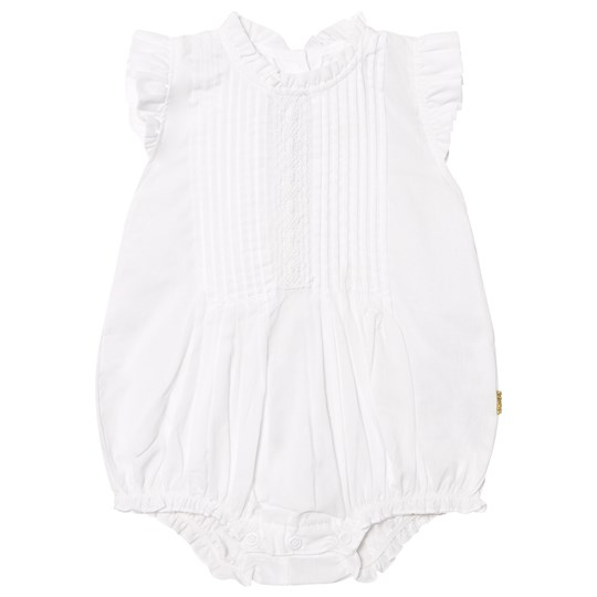 Hust&Claire Romper with Pleats Vit White