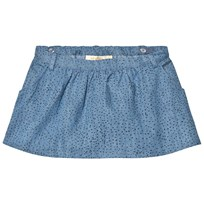 Soft Gallery Lola Kjol Denim Blue Minidots Denim Blue, AOP Minidots