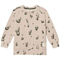 Soft Gallery Silas Sweater Tan Melange Big Cactus Tan Melange, AOP Big Cactus