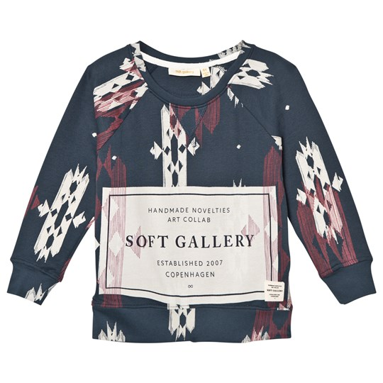 Soft Gallery Silas Sweater Reflecting Pond Native Reflecting Pond, AOP Native, Label